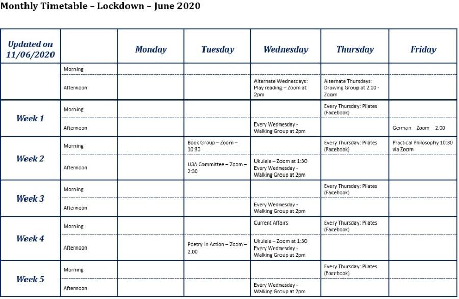 Web - monthly timetable Lockdown June 2020